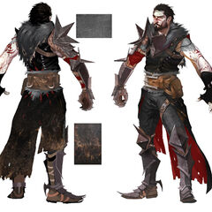 Concept art for male Hawke