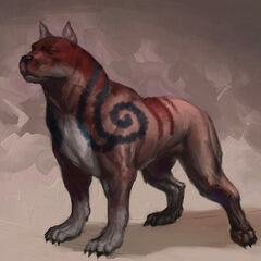 Concept art of a mabari with kaddis