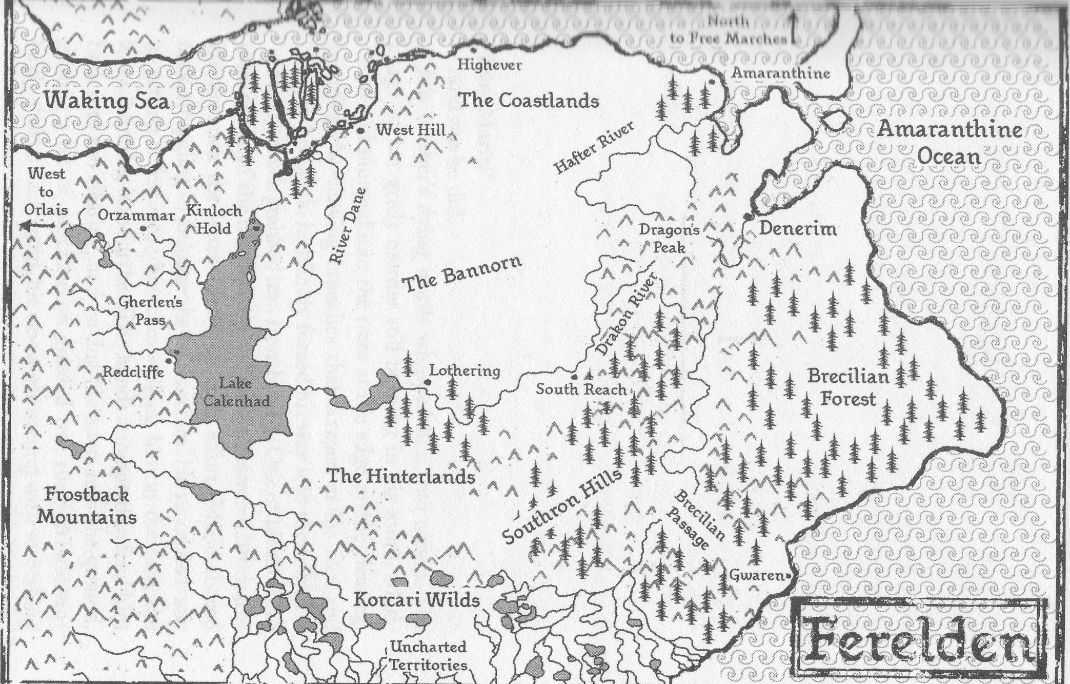 Image Ferelden Map 1 Jpg Dragon Age Wiki Fandom Powered By Wikia