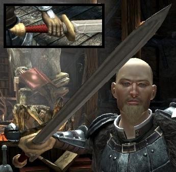 File:DA2 Fereldan Longsword on Hawke w Fereldan Field Armor.jpg
