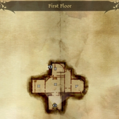 First Floor of Soldier's Peak Map