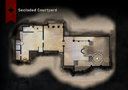 Secluded Courtyard Map
