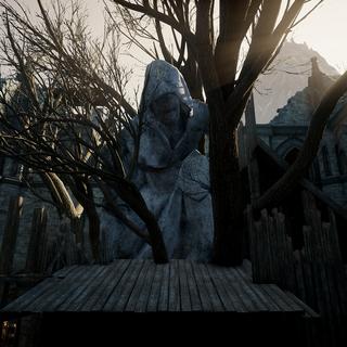 A statue of Dirthamen in Citadelle du Corbeau (<a href=