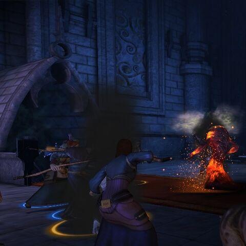 Keili battling Shah Wyrd