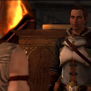 Sebastian talking to Aveline