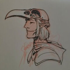 Sketch of Zevran's mask by artist Matt Rhodes.
