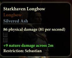 Item Tag Starkhaven Longbow