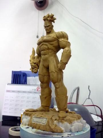 File:Pre-sculpt recoome modelkit.jpg