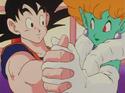 Princess Snake dancing with Goku