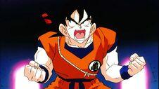 Goku with the power pole