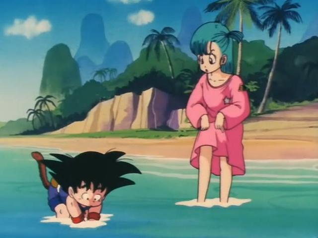 File:Goku and Bulma at the beach.jpg