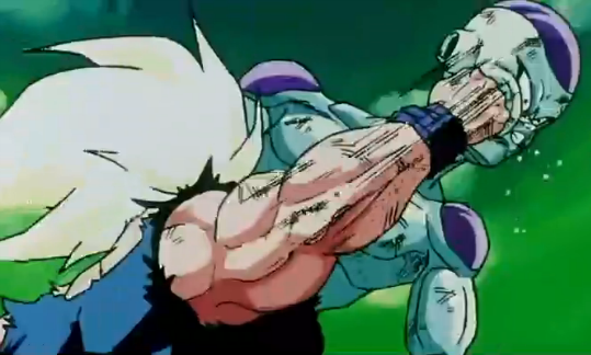 File:A Final Attack - Goku punches Frieza.PNG
