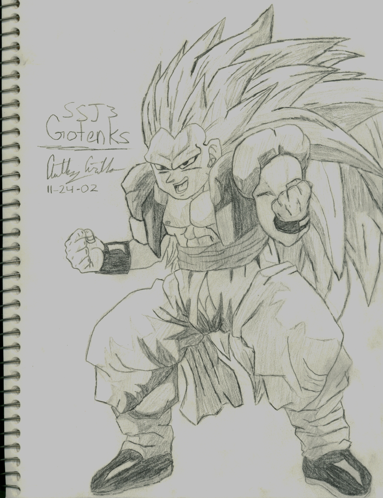 image gotenks ssj3 drawing jpg dragon ball wiki fandom