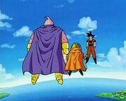 Goku confronts Buu and Babidi