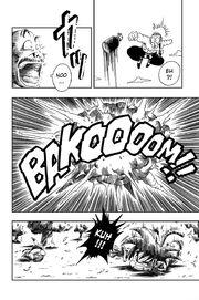 Mercenary Tao's grenade explodes in his face