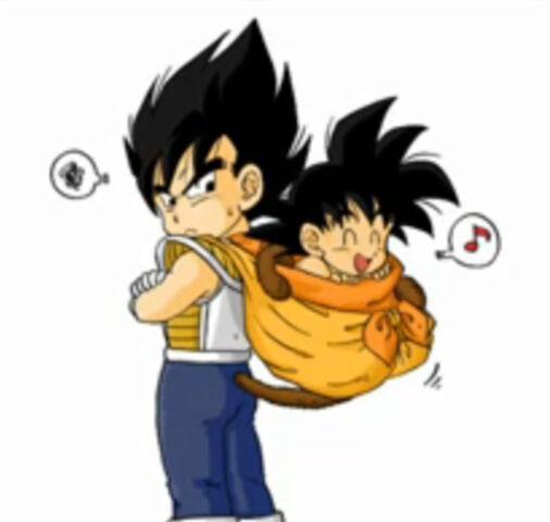 File:Kid Goku and Kid Vegeta by foxsilong.jpg