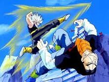 Future Trunks defeats Future Android Seventeen