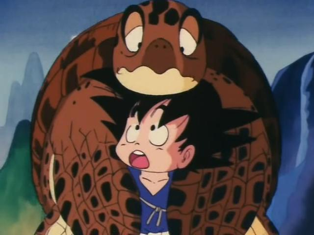 File:Goku with the sea turtle.jpg