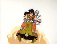 Yamcha and Puar on Jet Squirrel