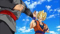 Goku blocks black
