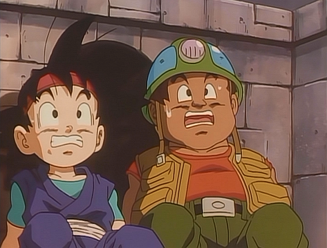 Arquivo:Goku Jr. and Puck Playing in the Goonies.png