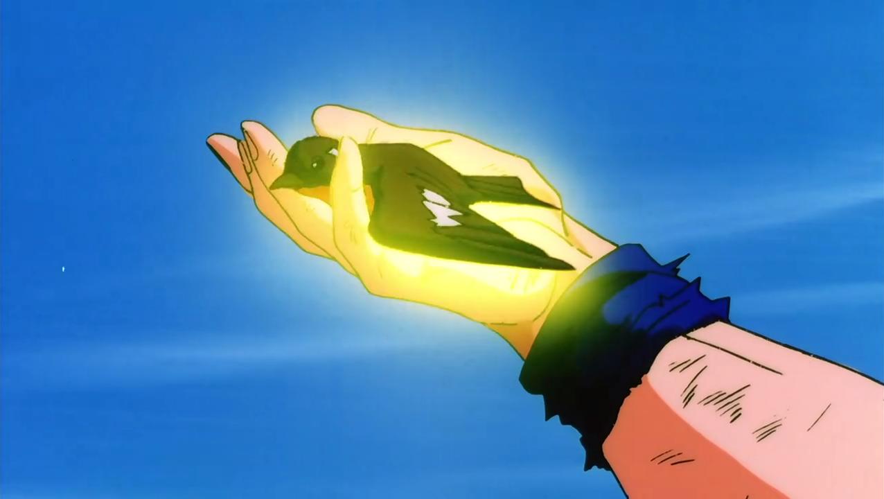 File:Goku healing a bird.png