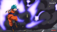 The Heavenly Arrow being fired at Goku.