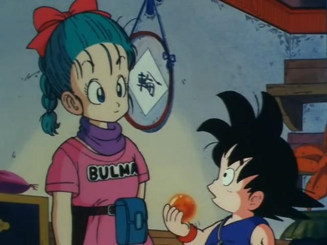 File:Goku and Bulma talking about the DragonBalls.jpg