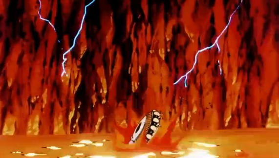 File:Namek's Explosion - Goku's End - Frieza's spaceship.PNG