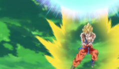 Goku uses Spirit Bomb on Villainous Frieza
