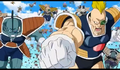 Frieza's 1000 soldiers army Recoome-like soldier pounches Krillin, Resurrection 'F', IsraeliteVIP pic snap
