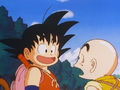 Goku tells Krillin how he beat the RRA
