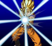 SSJ Goku Kamehameha by eggmanrules