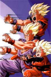 File:Goku , gohan , goten vs broly.jpeg