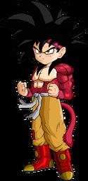 Goku Jr SSJ4 by SpongeBoss