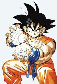 Goku en esta saga tiene otra ropa