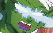 Piccolo fires the Eye Lasers