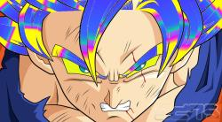 Colored Super Saiyan Goku