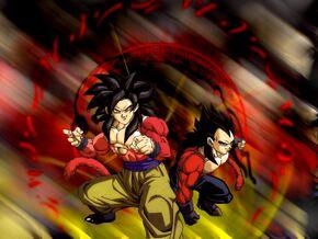 Goku and Vegeta ssj4 by atheus93