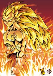 Super Saiyan 3 Vegeta colors