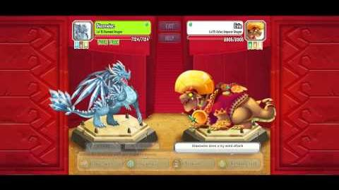 Dragon city aztec island comba 3 diamond dragon vs aztec emperor dragon
