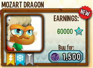 Mozart Dragon in Store