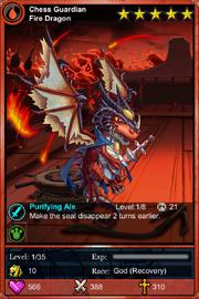 Chess Guardian Fire Dragon