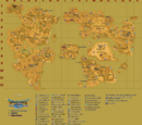 Map of material locations in Dragon Quest IX