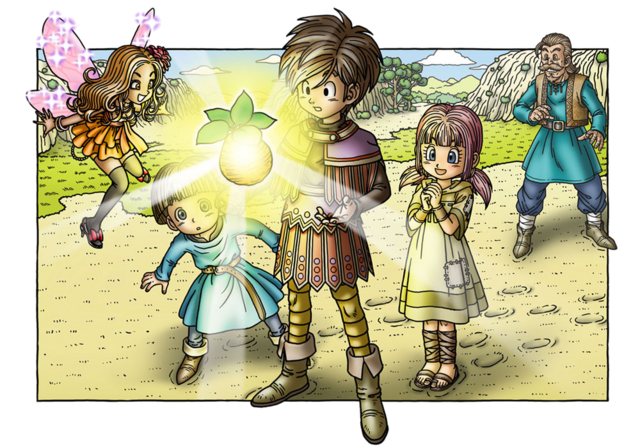 File:DQIX - Hero acquiring a Fygg at Port Llaffan with friends.png
