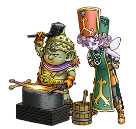 File:DQX - A male Dwarf and a male Elf Priest.png