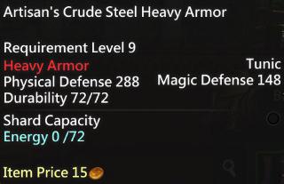 Artisan's Crude Steel Heavy Armor