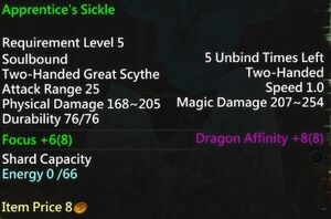 Apprentice's Sickle Info