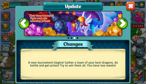 Tournament XCI Update