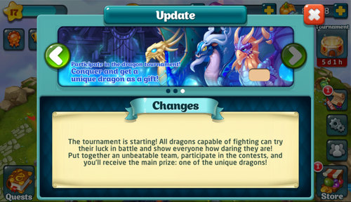 Tournament XXV Update